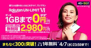 楽天モバイルの1年無料キャンペーンの受付は4/7まで-RAKUMANI