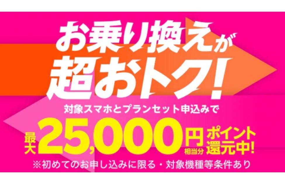 楽天モバイル乗り換えキャンペーン2万ポイント還元